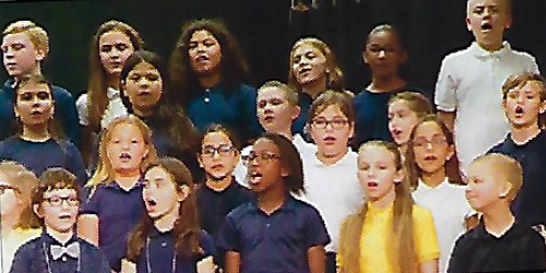 Group photo of the Valleyview Elementary Choir